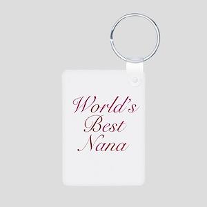 World's Best Nana Aluminum Photo Keychain