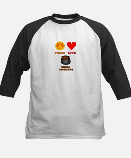 Peace Love Chili Cookoff Kids Baseball Jersey