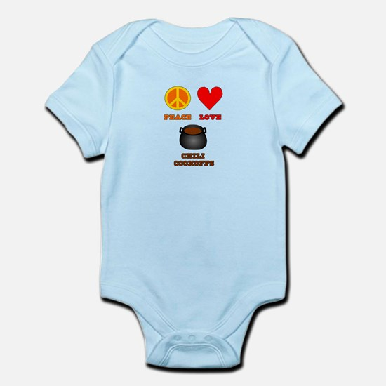 Peace Love Chili Cookoff Infant Bodysuit