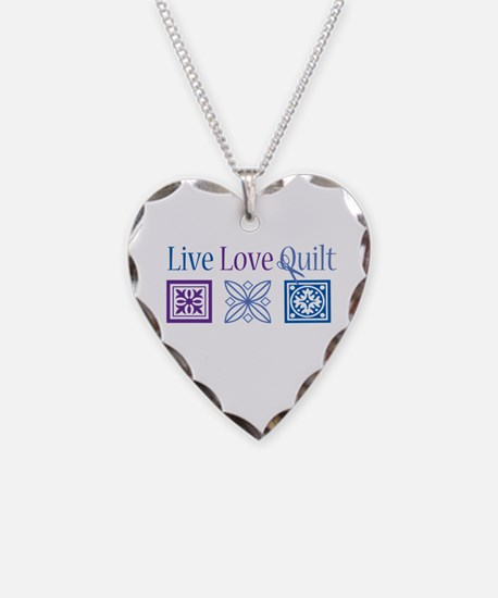 Live Love Quilt Necklace