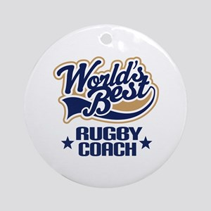 Rugby Coach Gift Ornament (Round)