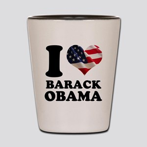 I love Barack Obama American Shot Glass