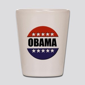 Obama red white and blue Shot Glass