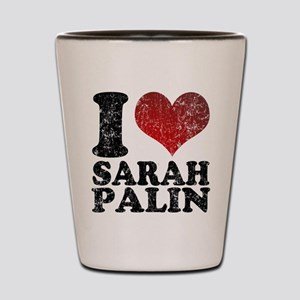 I love Sarah Palin Shot Glass