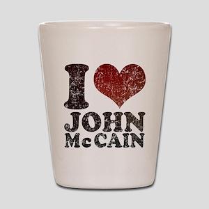 I love John McCain Shot Glass