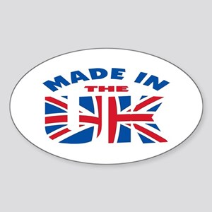 Made In The UK Oval Sticker