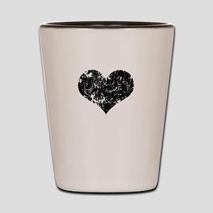 Vintage Heart Logo Shot Glass
