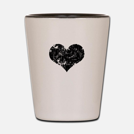 Vintage Heart Logo Shot Glass