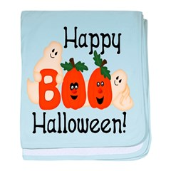 Ghostly Boo! baby blanket