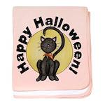 Black Cat Full Moon baby blanket