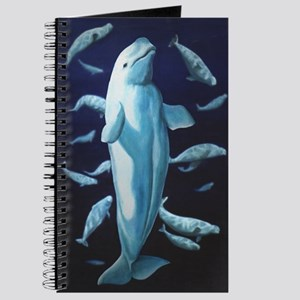 Beluga Whale Journal Wildlife Art Notebook Diary