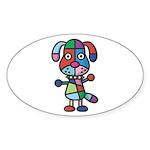 kuuma colorful 1 Sticker (Oval 10 pk)
