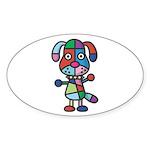 kuuma colorful 1 Sticker (Oval 50 pk)
