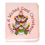 Wicked Good! Christmas baby blanket