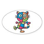 kuuma colorful 2 Sticker (Oval 10 pk)