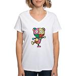 kuuma colorful 4 Women's V-Neck T-Shirt