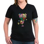 kuuma colorful 4 Women's V-Neck Dark T-Shirt
