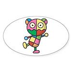 kuuma colorful 4 Sticker (Oval 10 pk)