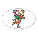 kuuma colorful 4 Sticker (Oval 50 pk)