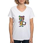 kuuma colorful 5 Women's V-Neck T-Shirt