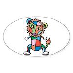 kuuma colorful 6 Sticker (Oval 10 pk)