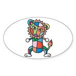 kuuma colorful 6 Sticker (Oval 50 pk)