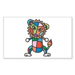 kuuma colorful 6 Sticker (Rectangle 50 pk)