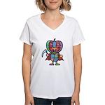 kuuma colorful 7 Women's V-Neck T-Shirt