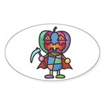 kuuma colorful 7 Sticker (Oval)