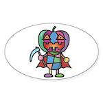 kuuma colorful 7 Sticker (Oval 10 pk)