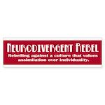 Neurorebel Red Bumper Bumper Stickers (10 Pk)