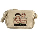 Merry Christmas From Maine! Messenger Bag