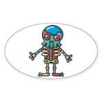 kuuma colorful 8 Sticker (Oval 10 pk)