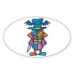 kuuma colorful 9 Sticker (Oval 10 pk)