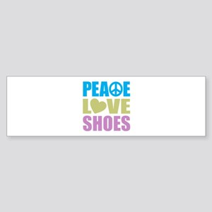 Peace Love Shoes Sticker (Bumper)