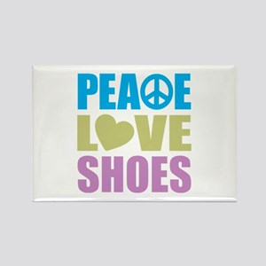 Peace Love Shoes Rectangle Magnet