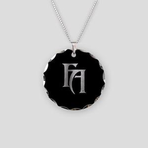 FA Black Necklace Circle Charm