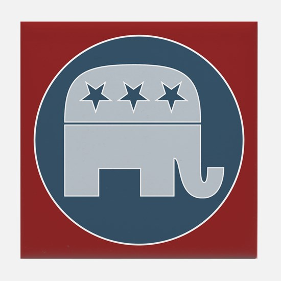 Republican Gift Items Tile Coaster