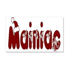 Christmas Mainiac Car Magnet 20 x 12