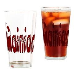 Christmas Mainiac Drinking Glass