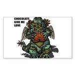 GIVE ME CHOCOLATE Sticker (Rectangle)