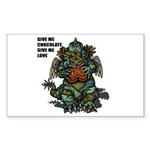 GIVE ME CHOCOLATE Sticker (Rectangle 10 pk)
