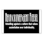 Neurodivergent Rebel Sticker