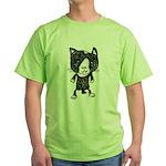 cacats buneko 2 Green T-Shirt
