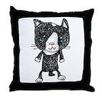 cacats buneko 2 Throw Pillow