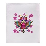cacats cherry blossoms Throw Blanket