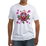 cacats cherry blossoms Fitted T-Shirt