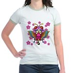 cacats cherry blossoms Jr. Ringer T-Shirt