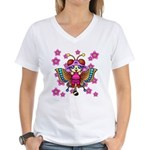 cacats cherry blossoms Women's V-Neck T-Shirt