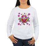 cacats cherry blossoms Women's Long Sleeve T-Shirt